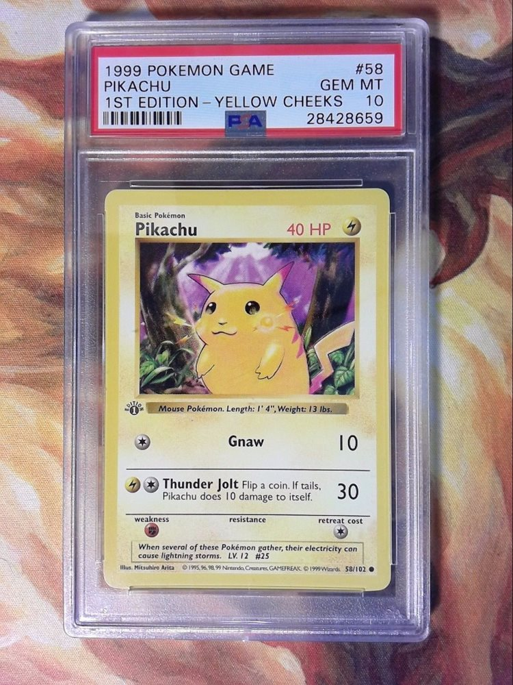 Pokemon Base Set Pikachu #58//102 New