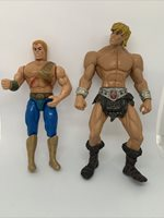 2 Heman Action Figures One 1988 And One 2001! FAST FREE SHIPPING!