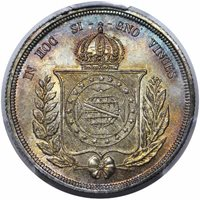 1867 Brazil 500RMS66 [PCGS Gold Shield]