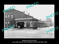 OLD 8x6 HISTORIC PHOTO OF PITTSBURGH PA THE AMOCO SERVICE STATION c1930
