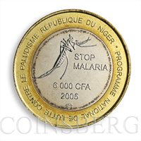 Niger 6000 francs Stop Malaria Africa Elephant 2005