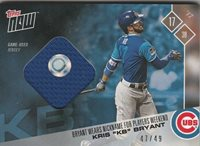 a82bc7b3f Kris Bryant KB CHICAGO CUBS TOPPS NOW PLAYERS WEEKEND BLUE JERSEY 47 49  PWR-1C