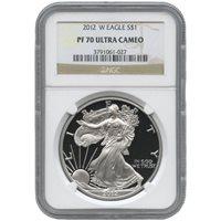2012-W 1 oz Proof Silver American Eagles NGC PF70 UCAM