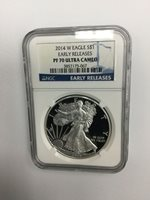2014 S$1 W Eagle - Early Releases - PF 70 Ultra Cameo - NGC Silver