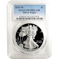 2015-W 1 oz Proof Silver American Eagle Coins PCGS PR70 DCAM