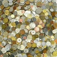 ***TREASURE HUNT!*** FINE ASSORTMENT OF 60 DIFFERENT FOREIGN COINS! ~>