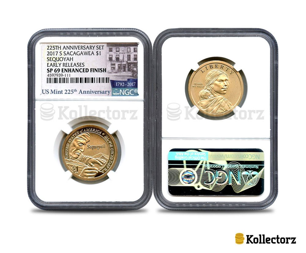 2016 S Native American Enhanced $1 Dollar Coin /& Currency Set PCGS SP70