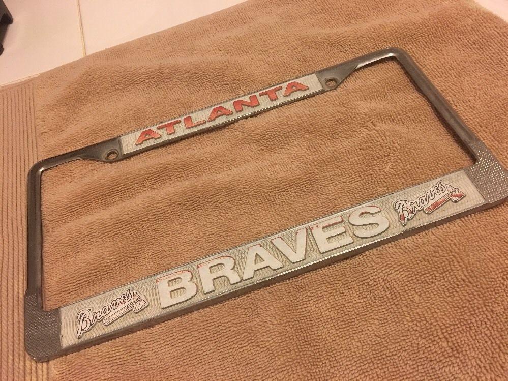atlanta braves license plate frame