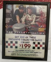 1995 WSMP Kerry Earnhardt Nascar #1 Of 3 A1 Steak Sauce Hanging Picture Frame