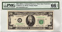 Fr.2074-L* $20 1981 A San Francisco Star PMG GEM Uncirculated 66 EPQ