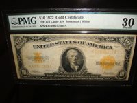 USA 1922 Gold Certificate 10 Dollars FR-1173 PMG 30 /217