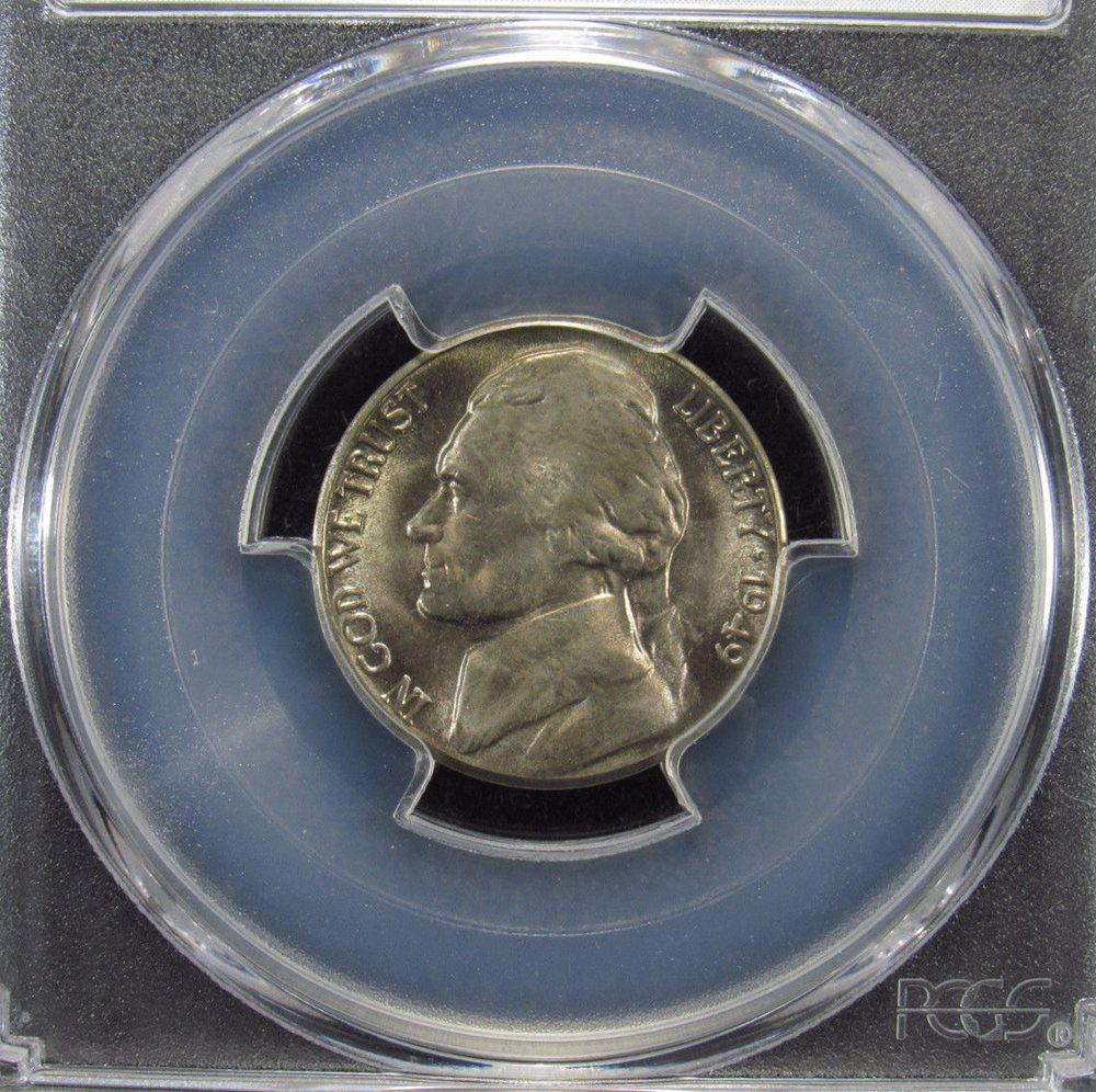 PCGS 1949-P Jefferson Nickel MS65