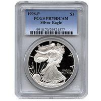 1996-P 1 oz Proof Silver American Eagles PCGS PR70 DCAM