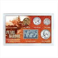 Pearl Harbor Coin & Stamp Collection Pearl Harbor 1941 Storage Acrylic Case