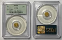 ND $1/4 Dollar California Gold Quarter Dollar PCGS MS62 BG-203