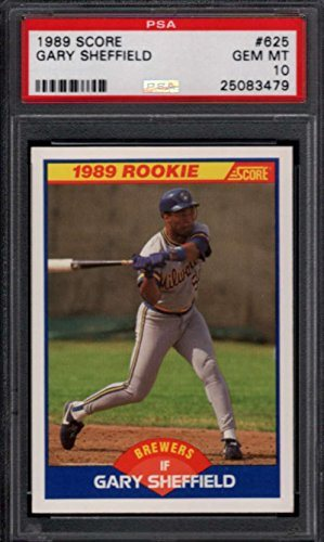 1989 Score 625 Gary Sheffield Rookie Rc Milwaukee Brewers Psa 10 Gem Mint
