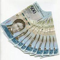Venezuela P94 2017 500 Bolivares UNC Banknote Money x 10 Sequential Note Lot