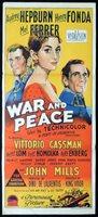 "WAR AND PEACE Original Daybill Movie Poster AUDREY HEPBURN Henry Fonda ""A"" Richardson Studio"