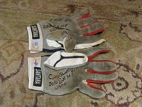 Carlos Santana Game Used Autograph Batting Gloves Hollywood Collectible Cert