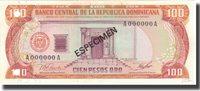 100 Pesos Oro 1977 Dominican Republic Banknote, Km:122s1