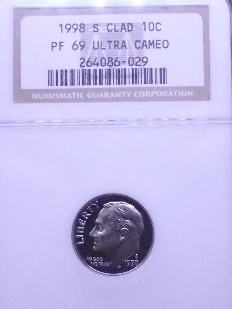 1982-S 10C NGC PROOF-70 ULTRA CAMEO
