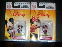 NEW! 2 NANO METALFIGS DISNEY - MICKEY MOUSE DS1 & MINNIE MOUSE DS2