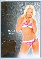 "MOLLY SHEA ""BRONZE BASE CARD /5"" BENCHWARMER 25 YEARS SERIES 2"