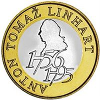 "2006 Slovenia 500t UNC ""Anton Tomaz Linhart"""