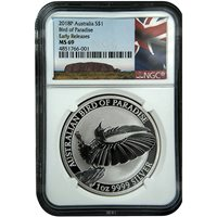 2018 1 oz Silver Australian Bird Of Paradise Coins NGC MS69 ER