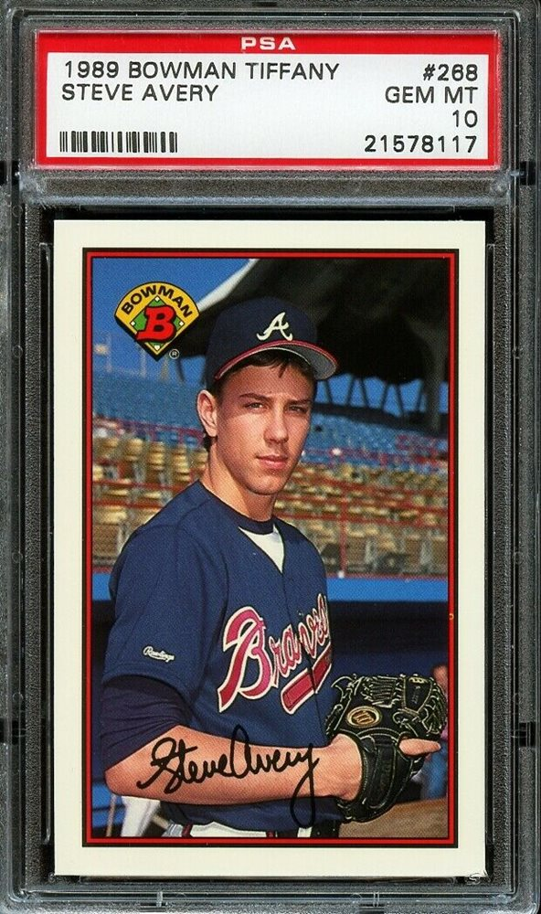 Auction Prices Realized Baseball Cards 1989 Bowman Tiffany Steve Avery