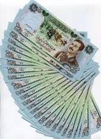 Saddam Hussein 1986 25 DINAR Banknote - XF- PIC 73 x 25 NOTE 1/4 BUNDLE - SCARCE