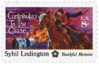 #1559 – 1975 8c Contributors to the Cause: Sybil Ludington