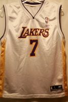 a9688b9c5d9 Los Angeles LA NBA Lakers Lamar Odom 7 Jersey Youth Large Authentic Reebok