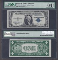 Fr#1611 $1 1935B C93384102D 64EPQ A more affordable CCU+ on this scarcer block