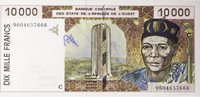 10000 Francs Western African States Seriennote (1992-2001)