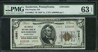 Fr No.1800-2 $5 Pennsylvania 1929II 13251 Souderton PMG 63EPQ