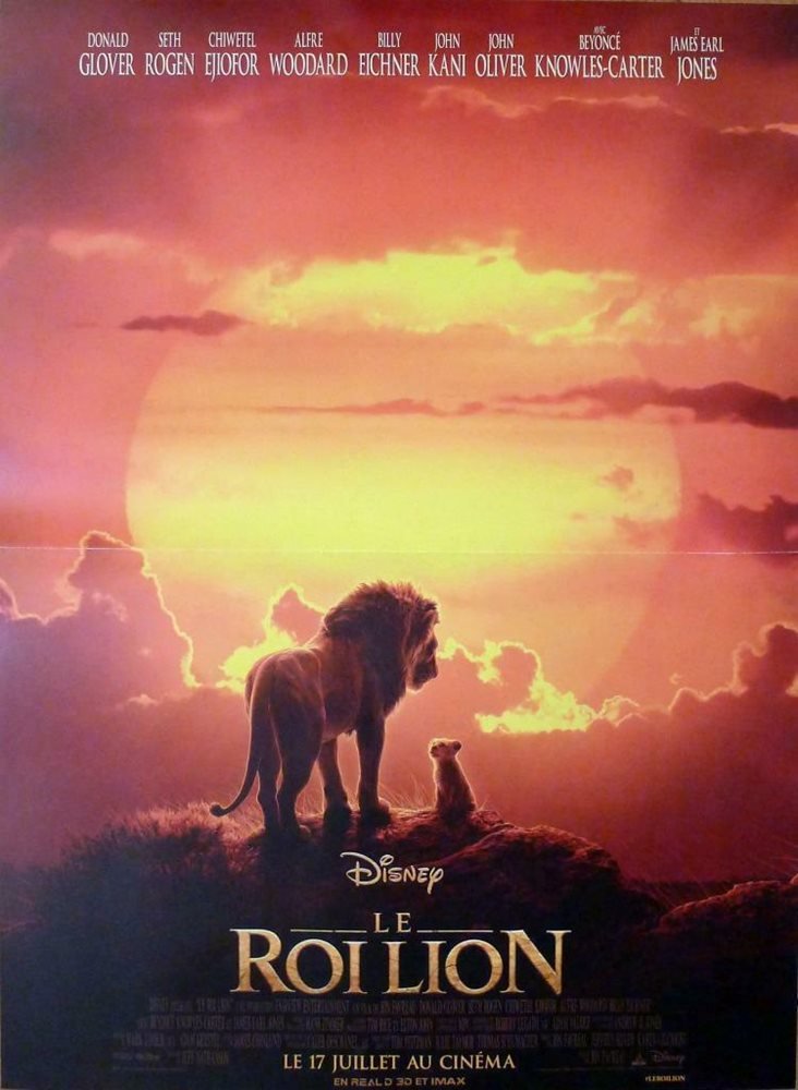 The Lion King Beyonce Disney Glover Africa Original French Movie Poster