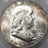 "1961 50C PCGS MS63 ""BUGS BUNNY"" FS-401 FRANKLIN HALF ~ ORIGINAL PATINA & NEW DIE!"