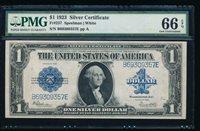 AC Fr 237 $1 1923 Silver Certificate PMG 66 EPQ gem
