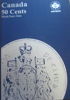 Complete Set of Canada Fifty Cents Coins (1968-2017: 49 Coins) in Blue Book