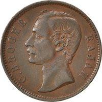 Sarawak, Charles Brocke, 1 Cent 1885 Heaton, KM 6