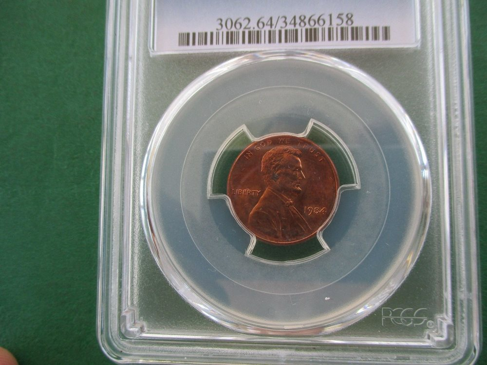 1984 DOUBLE DIE OBVERSE LINCOLN CENT/PENNY PCGS GRADED MS64