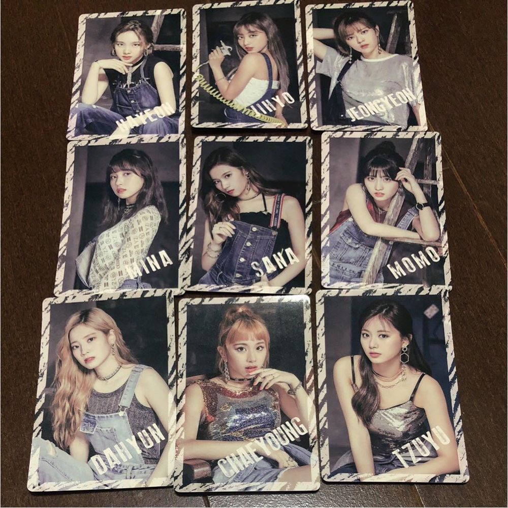 TWICE BDZ Sticker Full complete 9 Set TWICE 1st ARENA TOUR 2018 official