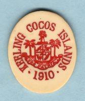 Cocos Keeling Islands. 1913 5 Cents.. gEF - RARE This Grade