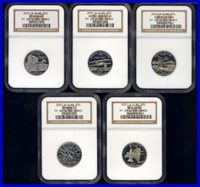 2001-S CLAD NGC PR69 ULTRA CAMEO STATE QUARTERS
