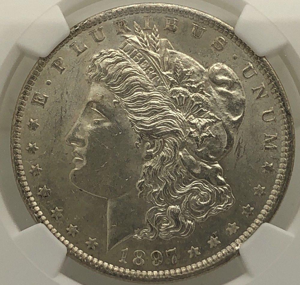 1897 $1 Morgan Silver Dollar XF EF Extremely Fine