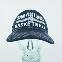 Adidas San Antonio Basketball Spurs Black Adjustable Sz Loop And Hook NBA Cap