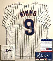 New York Mets Brandon Nimmo Signed Jersey PSA/DNA COA