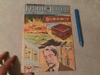 ALFRED NOBEL DYNAMITE DISCOVERY GRAPHIC NOVEL GREAT ART 1958 !