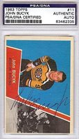 John Bucyk Autographed Signed 1963 Topps Card #11 - PSA/DNA CertifiedCUSTOM FRAME YOUR JERSEY